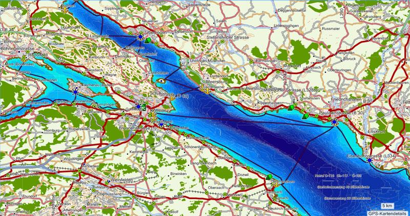 Bodensee-Navigationskarte