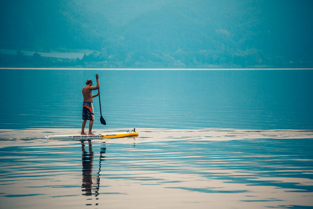 Stand Up Paddling am Bodensee